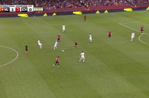 Goal: Manchester United 1 - 1 AC Milan 26', Suso