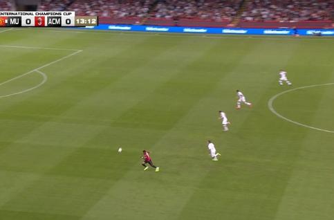 Goal: Manchester United 1 - 0 AC Milan 14', Rashford
