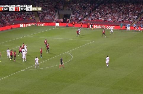 Goal: Manchester United 1 - 2 AC Milan 60', Castillejo