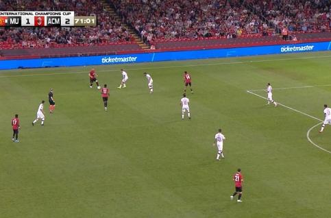 Goal: Manchester United 2 - 2 AC Milan 72', Lingard