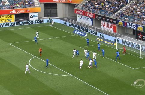 Goal: La Gantoise 4 - 1 Eupen 62', Blondelle