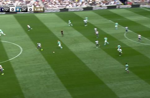 Goal: Tottenham 1 - 0 Inter Milan 3', Lucas