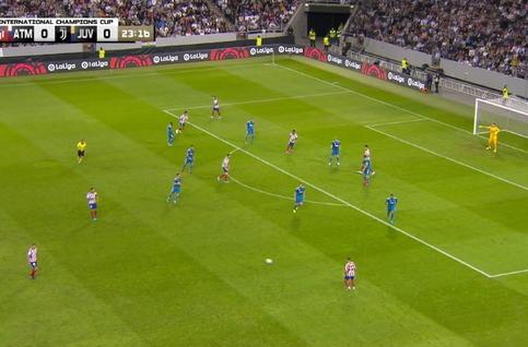Goal: Atlético Madrid 1 - 0 Juventus Turin 24', Lemar