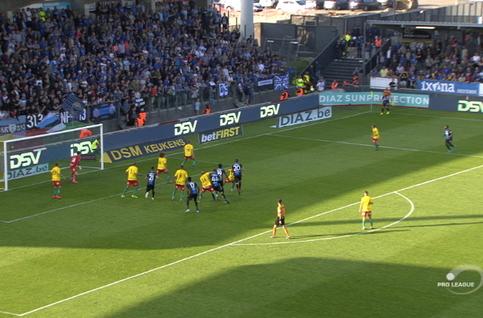 Goal: Ostende 0 - 1 FC Bruges 72', Okereke