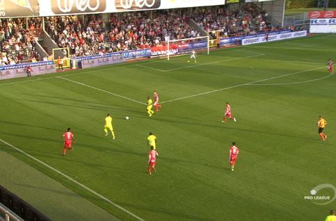 Goal: Mouscron 0 - 1 La Gantoise 25', Depoitre