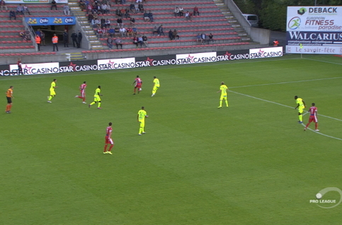 Goal: Mouscron 2 - 1 La Gantoise 44', Campins