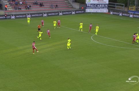 Goal: Mouscron 1 - 1 La Gantoise 34', Boya