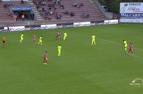 Goal: Moeskroen 2 - 1 KAA Gent 44', Campins