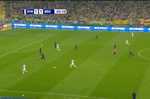 Goal: Dynamo Kiev 2 - 1 FC Bruges 50' Shepelev