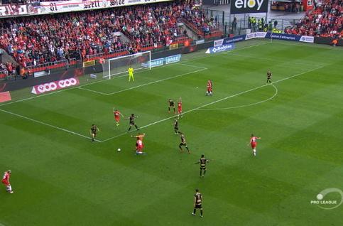 Goal: Standard 1 - 0 Moeskroen 13', Lestienne