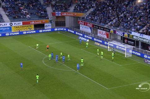 Goal: La Gantoise 1 - 0 Ostende 48', Jaremtsjoek