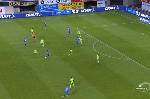 Goal: La Gantoise 2 - 0 Ostende 53', David