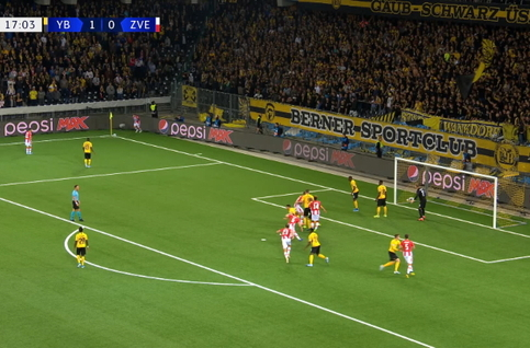 Goal: Young Boys 1 - 1 Crvena Zvezda 18' Degenek
