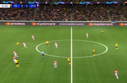 Goal: Young Boys 1 - 0 Crvena Zvezda 7' Assalé