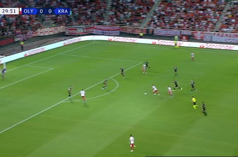 Goal: Olympiakos Piraeus 1 - 0 Krasnodar 30' Guerrero