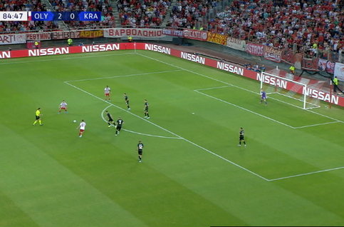 Goal: Olympiakos Piraeus 3 - 0 Krasnodar 85' Randelovic