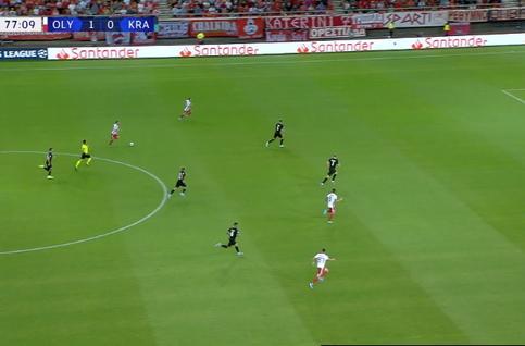 Goal: Olympiakos Piraeus 2 - 0 Krasnodar 78' Randelovic