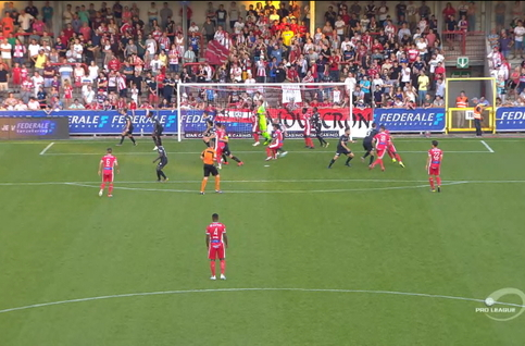 Penalty: Mouscron 1 - 0 Eupen 22', Allagui
