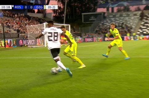 Goal: Rosenborg 1 - 0 Dinamo Zagreb 11' David