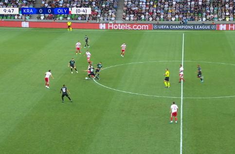 Goal: Krasnodar 1 - 0 Olympiakos Piraeus 10' Utkin