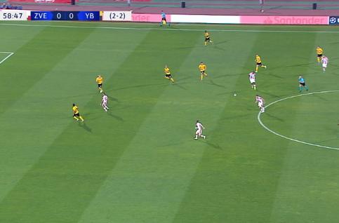 Goal: Crvena Zvezda 1 - 0 Young Boys 59' Vukanovic