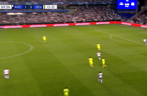 Goal: Rosenborg 1 - 1 Dinamo Zagreb 71' Gojak