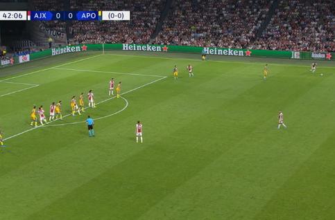 Goal: AFC Ajax 1 - 0 Apoel Nicosia 43' Alvarez