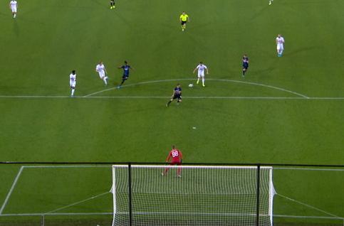 Penalty: Club Brugge 1 - 1 Linz ASK 74' Klauss