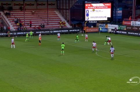 Goal: Courtrai 0 - 1 Ostende 34' Sylla