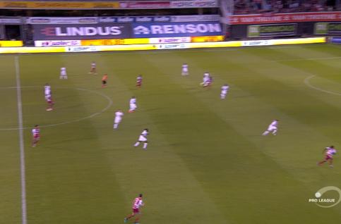 Goal: SV Zulte Waregem 1 - 0 Royal Antwerp 35' Berahino