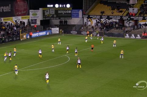 Own Goal: KSC Lokeren 1 - 1 KVC Westerlo 34' Biset