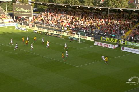 Goal: KV Oostende 1 - 1 Standard 31', Sakala