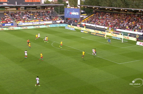 Goal: KV Oostende 1 - 3 Standard 67', Lestienne