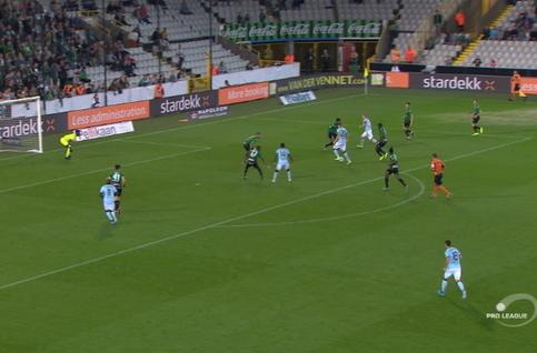 Goal: Cercle Brugge 0 - 1 Club Brugge 32', Diatta