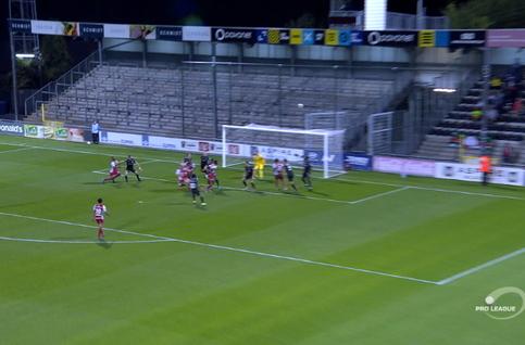 Goal: Eupen 0 - 1 SV Zulte Waregem 45', Larin