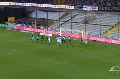 Goal: Cercle Brugge 0 - 2 Club Brugge 61', Dennis