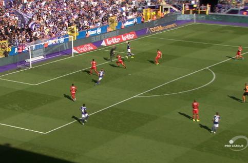 Goal: RSC Anderlecht 1 - 1 Royal Antwerp 65', Chadli