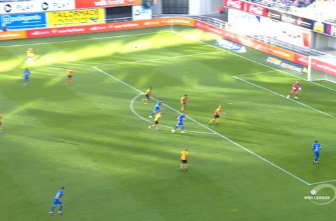 Goal: KAA Gent 1 - 0 KV Mechelen 29', Yaremchuk