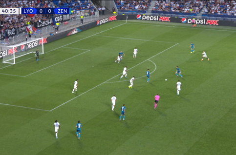 Goal: Lyon 0 - 1 Zenit 41', Azmoun