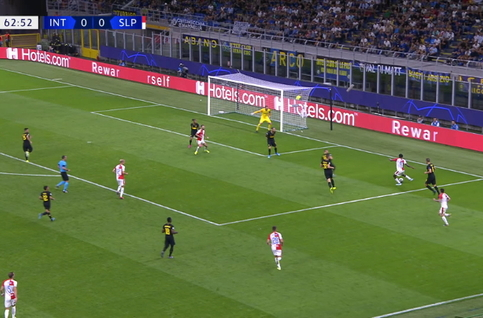 Goal: Inter Milan 0 - 1 Slavia Prague 64', Olayinka