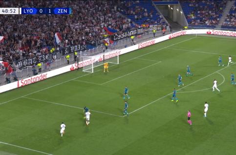 Penalty: Lyon 1 - 1 Zenit 50', Depay