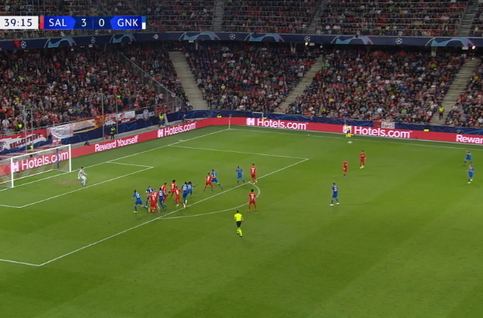 Goal: Red Bull Salzbourg 3 - 1 Genk 40', Lucumi