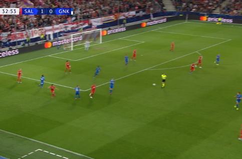 Goal: Red Bull Salzbourg 2 - 0 Genk 34', Haland