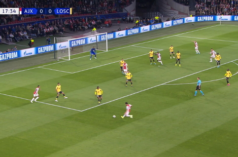 Goal: Ajax Amsterdam 1 - 0 Lille 18', Promes