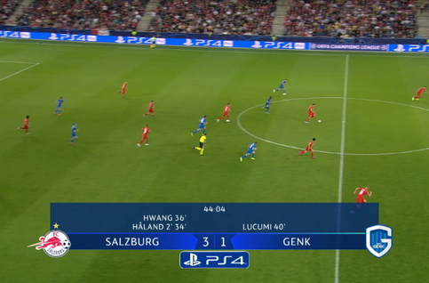 Goal: Red Bull Salzburg 4 - 1 KRC Genk 45', Haland