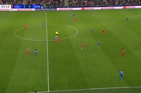 Goal: Red Bull Salzburg 3 - 0 KRC Genk 36', Hwang Hee-Chan