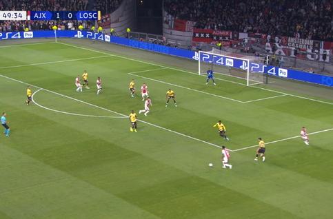 Goal: AFC Ajax 2 - 0 Lille OSC 50', Alvarez