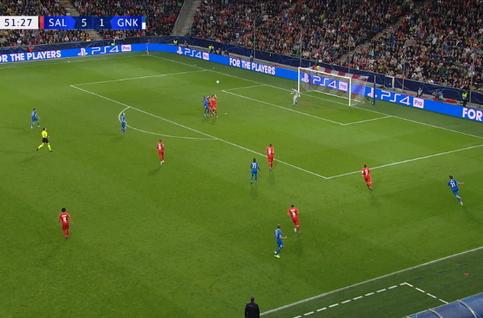 Goal: Red Bull Salzbourg 5 - 2 Genk 52', Samatta