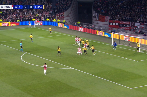 Goal: AFC Ajax 3 - 0 Lille OSC 62', Tagliafico