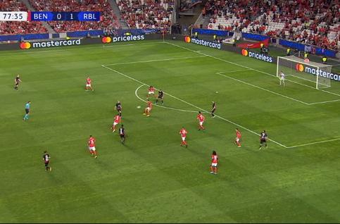 Goal: Benfica 0 - 2 RB Leipzig 79', Werner